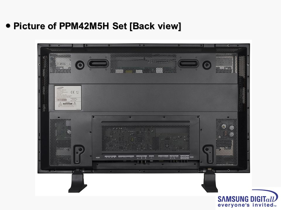 ● Picture of PPM42M5H Set [Back view]
